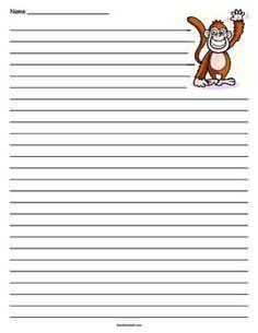 Monkey writing paper