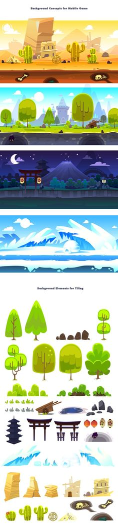 70 New Ideas For Landscape Drawing Ideas Mobiles Game Environment, Environment Concept Art, Environment Design, Game Design, Bg Design, Flat Design, Cartoon Background, Animation Background, 2d Game Background
