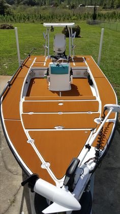 Being shock absorbent and long-lasting, Marine Mat is the leading brand in bespoke Eva foam boat decking, and other related applications. Contact us now! Boat Carpet, Marine Flooring, Small Fishing Boats, Skinny Water, Center Console Boats, Boat Restoration, Bay Boats, Build Your Own Boat, Boat Projects