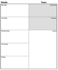 Day Planner Printable  Weekly Planner Time Am Am Am Am Am Am  To