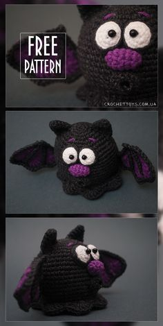 Free pattern Crochet Bat for Halloween - http://crochettoys.com.ua/index.php/en/