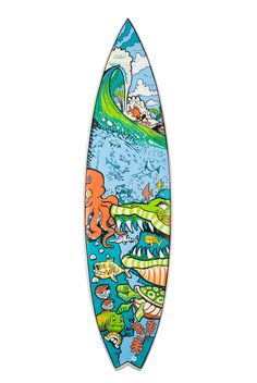 Create amazing art on your surf board with Posca Paint Pens