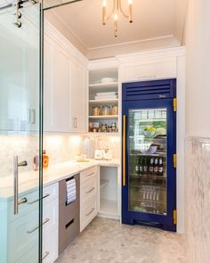 When function and beauty meet. This pantry equipped with our Cobalt Refrigerator. Pantry Inspiration, Kitchen Cabinets, Kitchen Appliances, Kitchens, Tiny Living, French Door Refrigerator, Bathroom Medicine Cabinet, Cobalt, House