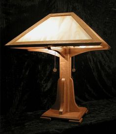Arts And Crafts Lamp · Art Deco LampsCraftsman StyleWood ...