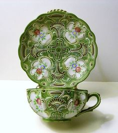 Ardalt Japan Moriage cup and saucer