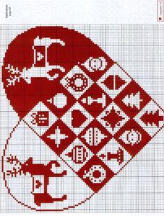 ru / Фото - - Orlanda--just do the squares w/o anything in them Xmas Cross Stitch, Cross Stitch Heart, Cross Stitch Alphabet, Cross Stitching, Christmas Embroidery, Diy Embroidery, Cross Stitch Embroidery, Embroidery Patterns, Christmas Hearts