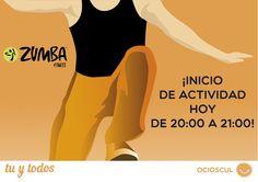 Iniciamos actividad en #Ocioscul trayéndote #ritmos latinos y #ejercicios aeróbicos de la mano de #Zumba, para que pases el viernes disfrutando con el ejercicio. Todos los Viernes de 20:00 a 21:00 y los Martes de 17:00 a 18:00.