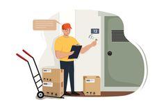 Parcel Delivery, Package Delivery, Delivery App, Creative Illustration, Business Inspiration, Coreldraw, Creative Words, App Design, Vectors