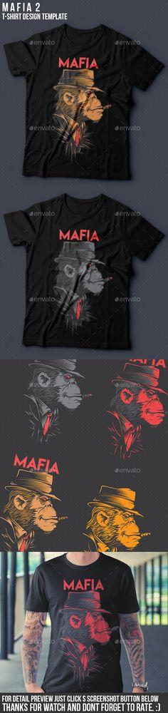 Mafia 2 #T-Shirt #Design - Funny Designs Download here: https://graphicriver.net/item/mafia-2-tshirt-design/12702897?ref=alena994