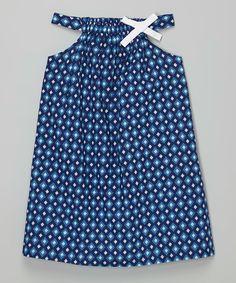 Look at this #zulilyfind! Rim Zim Kids Blue & Purple Diamond Dress - Infant, Toddler & Girls by Rim Zim Kids #zulilyfinds