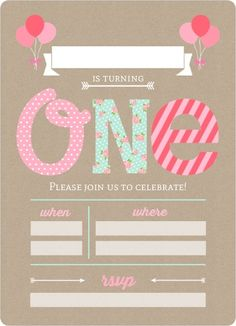 Birthday Invitation Card Sample Elegant Pink and Mint First Birthday Fill In the Blank Invitation In 1st Birthday Invitation Wording, Invitation Card Sample, Unicorn Birthday Invitations, Party Invitations, Invitation Ideas, Invitation Layout, Shower Invitation, Birthday Template, 1st Birthday Girls