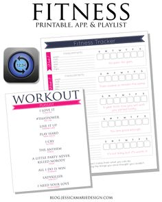 Fitness printable, app, and playlist to help me stay motivated!
