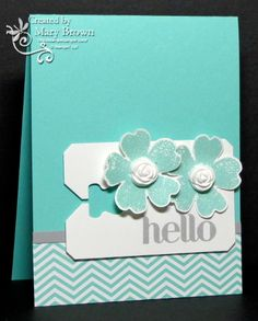 SU! Flower Shop and Four You stamp sets; 2013-2015 In Color Paper Pack; Chalk Talk Framelits; Simply Pressed Clay, Buttons & Blossoms Simply Pressed Clay Molds; colors are Coastal Cabana and Smoky Slate - Mary Brown