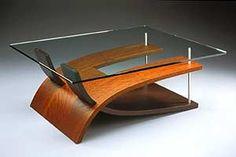 table, Wenge & Anigre Interlocking Coffee Table by Andrew Muggleton