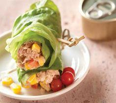 Rollitos de lechuga con atún, encuentra la receta en www.cocinavital.mx(Recetas Fitness Postres)