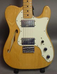 Thinline fender tele, someday this one will be all mine. My ALL TIME favorite guitar!