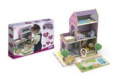 5033.2 - Casinha de Madeira Little House Verão | Contém 50 peças. | Faixa Etária: +3 anos | Jogos e Brinquedos | Xalingo Brinquedos | Crianças