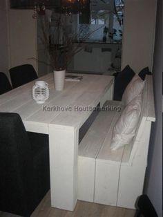 Steigerhouten Tafel whitewash