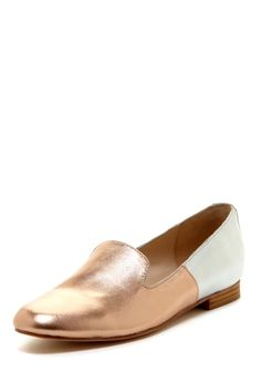 Rose Gold Colorblock Loafers