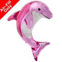 How can you not love a pink dolphin? - Tall Foil Balloon - Air-Filled - Stick Included - Easy Self-Seal Great for an Under the Sea Party, Dolphin Party, Mermaid Party,a Fiesta, or a Beach Party Dolphin Birthday Parties, Dolphin Party, Spongebob Birthday Party, Kids Birthday Themes, Pink Dolphin, Mermaid Under The Sea, Under The Sea Party, Mermaid Birthday, Baby Birthday