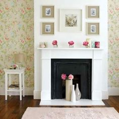 Such a cute fireplace. …♥ more inspiration @ apinksunset.com