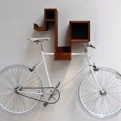 space-saving bike storage ideas for small apartments. Indoor bike storage solutions are for people who can't part with their bicycle. Bicycle Storage, Bicycle Rack, Small Space Living, Small Spaces, Wall Tv Stand, Bike Storage Solutions, Storage Ideas, Wall Storage, Shelf Wall
