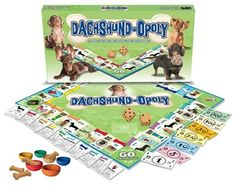Dachshund-opoly Wiener Dog Board Game. Now you've seen it all!