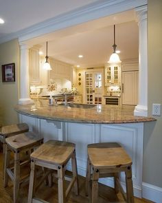 semi open kitchen designs - google search | kitchen | pinterest