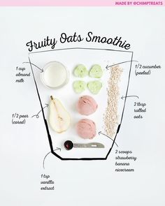 Your breakfast oats packed into an easy, mix-and-go smoothie! This recipe requires no added sugar, thanks to the sweetness of t… in 2020 Oat Smoothie, Smoothie Packs, Smoothie Drinks, Easy Smoothie Recipes, Easy Smoothies, Weight Loss Smoothies, Green Smoothies, Nice Cream, Tips Belleza