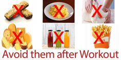 Which Foods you Should not Eat After Exercising?