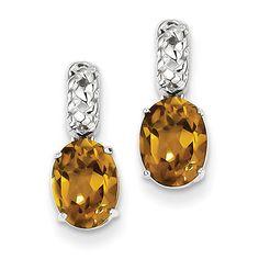 Sterling Silver Whiskey Quartz Earrings QE9879WQ
