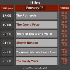 Good morning dear viewers, here is today's schedule. #iFilm