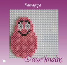 Barbapapa hama perler by aux4mains