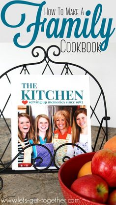 How To Make a Family Cookbook from Let's Get Together-includes a great GIVEAWAY for printing your book! Perfect for your family! I would buy it lol Make Your Own Cookbook, Making A Cookbook, Create A Cookbook, Homemade Cookbook, Cookbook Recipes, Cookbook Ideas, Cookbook Storage, Cookbook Display, Cookbook Organization