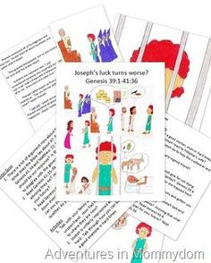 Joseph in jail storybook printable and activities
