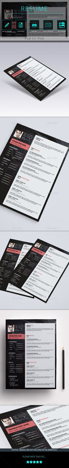 Clean \ Stylish Resume Resume cover letters, Font arial and Cv - buy a resume