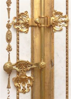 Large interior Secretary Office of the Queen (golden cabinet) Handle (reuse of the decor of Marie Lescszinska): mid 18th century C) RMN (Château de Versailles) / Gérard Blot. Via Rococo Revisited