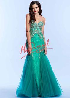 Mac Duggal 82244 Strapless Lace Dress