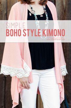 Simple DIY BOHO Style Kimono | via Make It and Love It