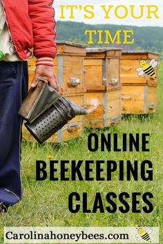 It's time for you to learn beekeeping. Enjoy this online beekeeping class at your own pace. Be a beekeeper. Carolina Honeybees