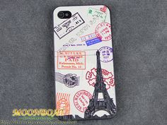 Stamps The Eiffel Tower Black  Hard case cover For by moonboat, $6.99