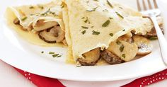 Fill soft crepes with creamy chicken and mushroom filling for a week-night meal with a difference.