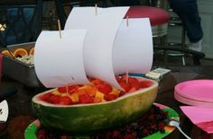 Sailing Away in a watermelon ship
