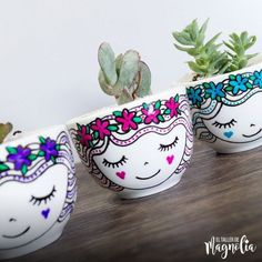 Painted Flower Pots, Painted Pots, Clay Pot Crafts, New Crafts, Face Planters, Sharpie Crafts, Terracotta Pots, Garden Crafts, Clay Pots