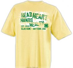 The 4 H's Shirt - 4-H Club Design SP2352