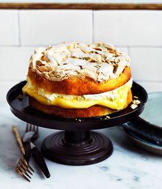 dream Recipe for lemon dream cake by Nadine Ingram from Sydney bakery Flour & Stone.Recipe for lemon dream cake by Nadine Ingram from Sydney bakery Flour & Stone. Lemon Desserts, Lemon Recipes, Chef Recipes, Baking Recipes, Dessert Recipes, Dessert Food, Lemon Dream Cake, Dream Recipe, Gourmet