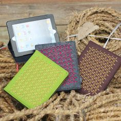 2087 designer lucky flower pattern ipad cases/ ipad covers/ ipad stand in felt in various colors -
