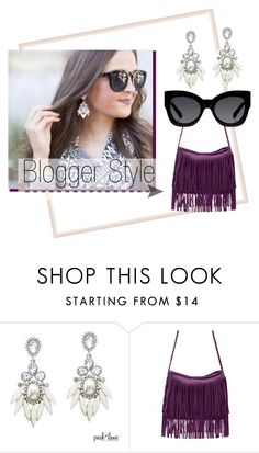 """""""Blogger Style"""" by parklanejewelry on Polyvore featuring Karen Walker"""