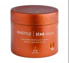CABELLO EFECTO GLOSSY CON KINSTYLE STAR WAX DE KIN COSMETICS