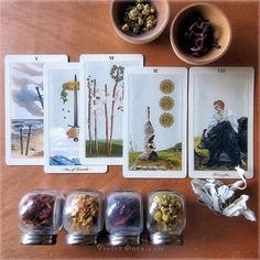 Cards from the Pagan Otherworlds Tarot by Uusi. / Photo © www.VioletAura.com